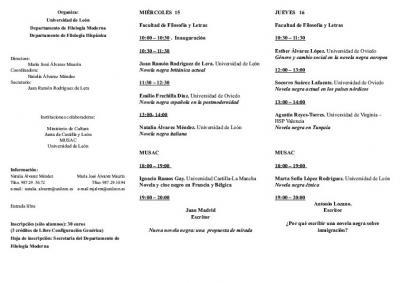Jornadas Novela y Cine Negro en Europa, León 15-17 Abril (2)