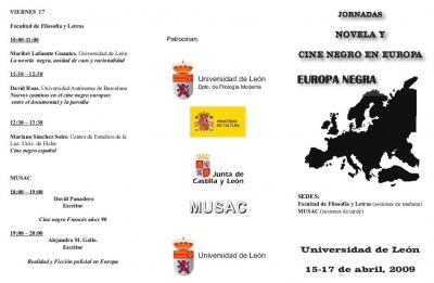 Jornadas Novela y Cine Negro en Europa, León 15-17 Abril (1)